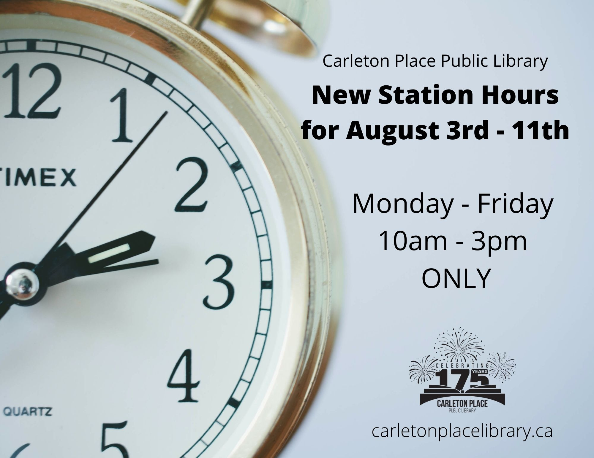 Library hours are changing in August